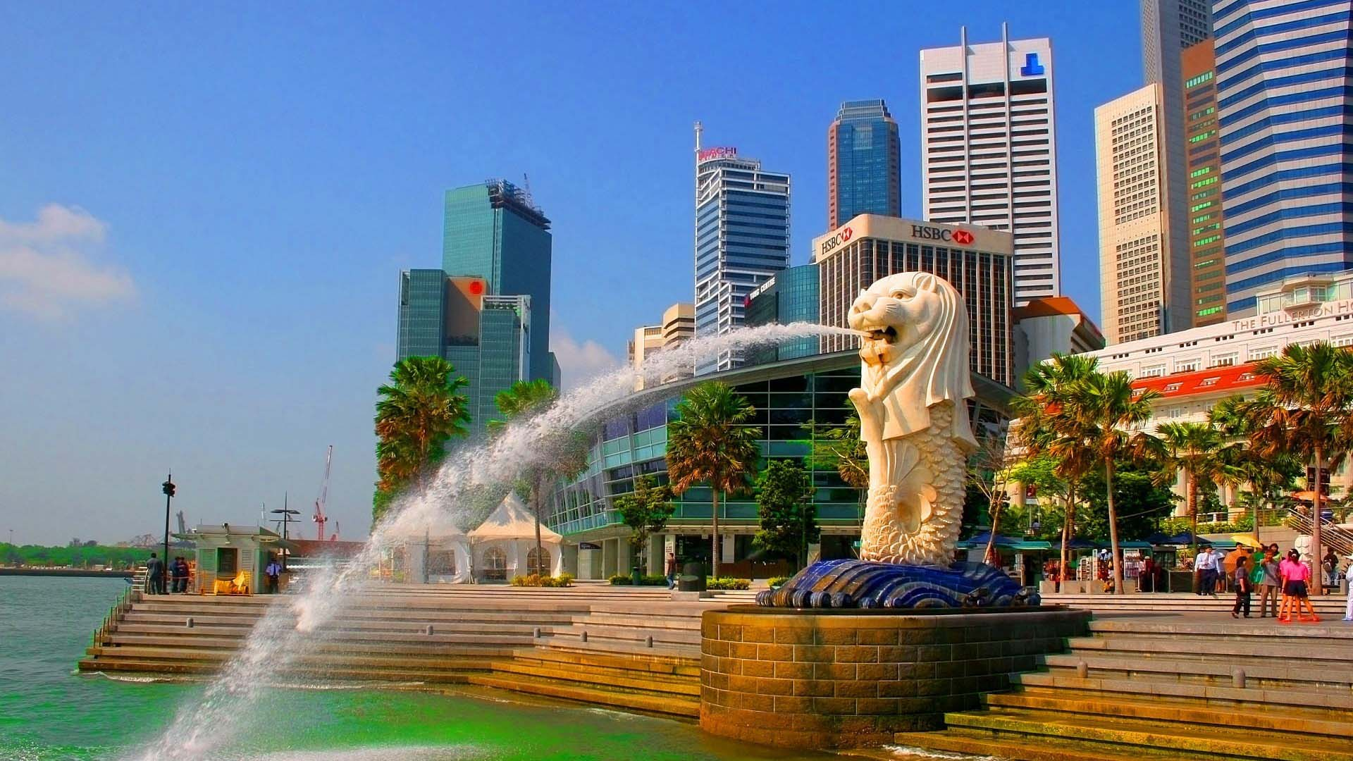 City-Merlion-Park-Singapore-Wallpaper-1920×1080